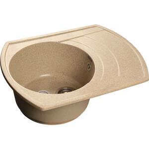 Мойка кухонная GranFest гранит 650x500 чаша крыло (Gf-R650L песок) мойка кухонная granfest гранит 650x500 чаша крыло gf r650l черная