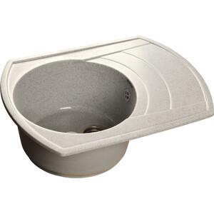 Мойка кухонная GranFest гранит 650x500 чаша крыло (Gf-R650L серая) мойка кухонная granfest гранит 650x500 чаша крыло gf r650l черная