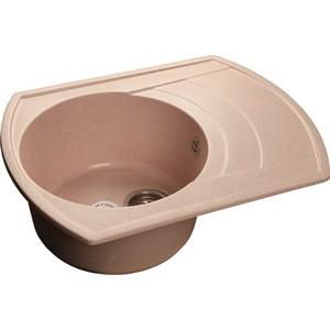 Мойка кухонная GranFest гранит 650x500 чаша крыло (Gf-R650L светло-розовая)