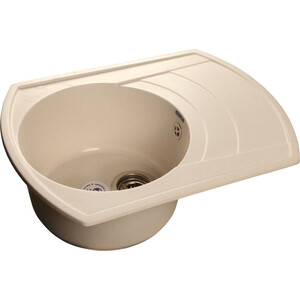 Мойка кухонная GranFest гранит 650x500 чаша крыло (Gf-R650L белая) мойка кухонная granfest гранит 650x500 чаша крыло gf r650l черная