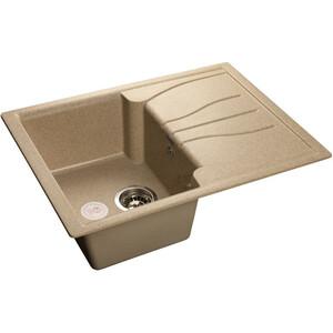Мойка кухонная GranFest гранит 680x500 (Gf-S680L песок) granfest смесительgranfest gf 1024 328 для кухонной мойки