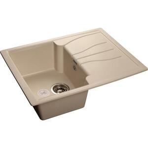 Мойка кухонная GranFest гранит 680x500 (Gf-S680L белая) granfest смесительgranfest gf 1024 328 для кухонной мойки