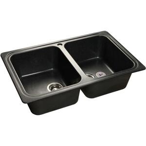 Мойка кухонная GranFest гранит 780x510 (Gf-S780K черная) gf go7400 b