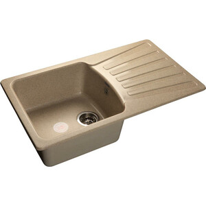 Мойка кухонная GranFest гранит 850x495 (Gf-S850L песок) мойка кухонная granfest гранит 850x495 gf s850l терракот