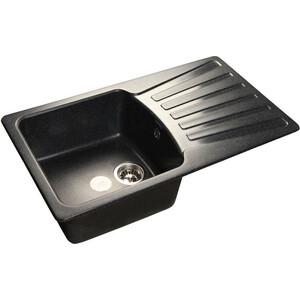 Мойка кухонная GranFest гранит 850x495 (Gf-S850L черная)