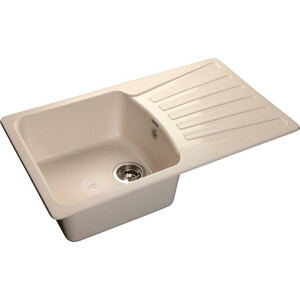 Мойка кухонная GranFest гранит 850x495 (Gf-S850L белая) granfest r580l terracotta