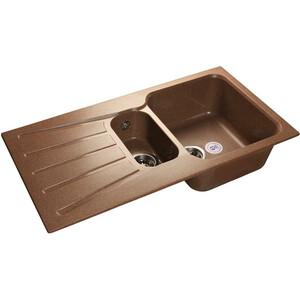 Мойка кухонная GranFest гранит 940x495 (Gf-S940KL терракот) мойка кухонная granfest гранит d520 gf r520 терракот