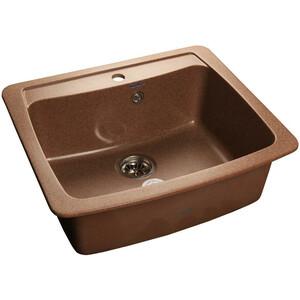 Мойка кухонная GranFest гранит 605x510 (Gf-S605 терракот) мойка кухонная granfest гранит 850x495 gf s850l терракот