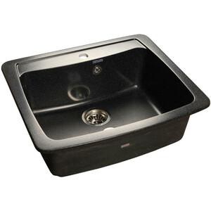 Мойка кухонная GranFest гранит 605x510 (Gf-S605 черная) мойка кухонная granfest гранит 605x510 gf s605 бежевая
