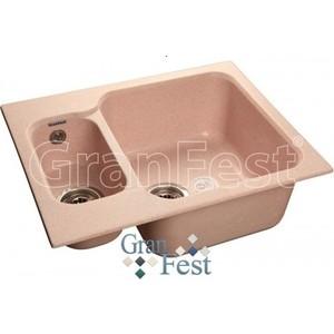 Мойка кухонная GranFest гранит 615x500 (Gf-S615K светло-розовая)