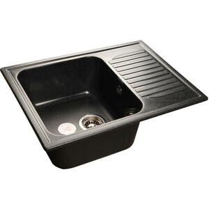 Фотография товара мойка кухонная GranFest гранит 645x500 (Gf-S645L черная) (99738)