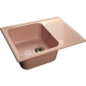 Купить мойка кухонная GranFest гранит 645x500 (Gf-S645L светло-розовая) (99740) в Москве, в Спб и в России