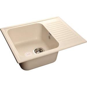 Мойка кухонная GranFest гранит 645x500 (Gf-S645L белая) цена