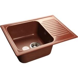 Мойка кухонная GranFest гранит 645x500 (Gf-S645L красный марс) цены онлайн